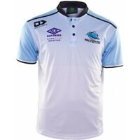 NRL 2020 Media Performance Polo - Cronulla Sharks - Mens Ladies Youth