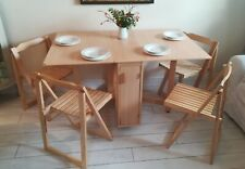 Butterfly Drop Leaf Folding Dining Table 4 Chairs Space Saver delivery available