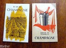Vin 2 plaquettes SERVIR ET VENDRE LE CHAMPAGNE et LE VIN DE CHAMPAGNE
