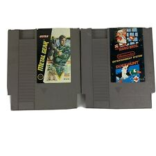 2 Snes Games Metal Gear And Mario Duckhunt Tested Works