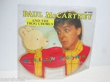 PAUL McCARTNEY FROG CHORUS WE ALL STAND TOGETHER SHAPED VINYL PICTURE DISC 1984