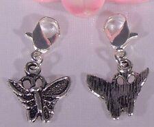 ♥ Charm Schmetterling Insekt Anhänger Bettelarmband silber ♥ AH227