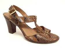 Circa JOAN & DAVID Size 9 HOURGLASS Brown Ankle Strap Sandals Shoes