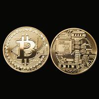 2Pcs Rare Bitcoin Gift Stock Golden Iron Commemorative Coin Gifts Collectible