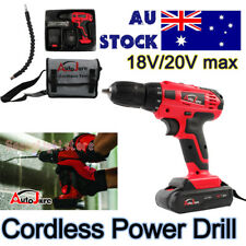 Electric Power Cordless Drill 500W H/Duty Chuck V/Speed battery charge hand tool