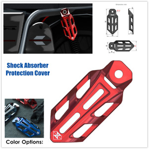 1×Motorcycle ATV Shock Absorber Protection Cover Guards Case Aluminum Alloy CNC