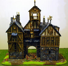 """WARHAMMER age of sigmar WAR GAME SCENERY """"BIG EMPIRE TIPICOL PALACE"""" PRO PAINTED"""
