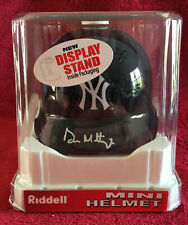 2006 NY Yankees Don Mattingly Autographed Authentic Riddell Mini Helmet with COA