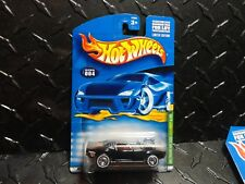 2001 Hot Wheels Treasure Hunt #4 Black Rodger Dodger w/Real Riders in Protecto