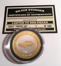 """New 2018 Holden """"GOLD"""" XU1 Torana Silver Stunner Coin/Token C.O.A. LTD 500"""