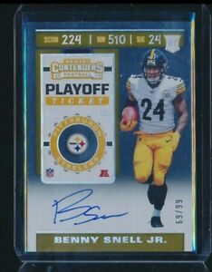 2019 CONTENDERS AUTO BENNY SNELL STEELERS PLAYOFF TICKET 69/99