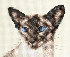 SIAMESE CAT, KITTEN Exclusive Full cross stitch kit + All materials *Fido Studio