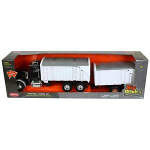 1/16 ERTL Big Farm Peterbilt 367 Grain Truck With Pup Trailer Tomy ERT46733