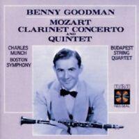 BENNY GOODMAN/BSO - MOZART: CLARINET CONCERTO AND QUINTET  CD 7 TRACKS NEW