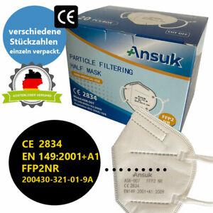 FFP2 Maske ISO Norm Mundschutz Atemschutz Gesichtsschutz CE zertifiziert 5-lagig