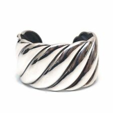 New DAVID YURMAN Wide Sculpted Cuff Bracelet Sterling Silver Small/Med