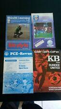 FC ZURICH v  UJPESTI  DOZSA European match  1975/76