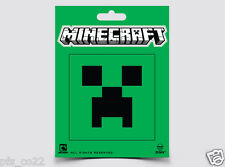 Official Minecraft Creeper face sticker sheet Licensed stickers
