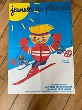 Affiche  JEUNESSE AU PLEIN AIR – Hervé Morvan Léo Kooper 1986.   59 X 42 Cm