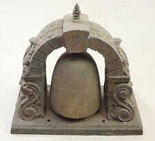 Antique Spelter Bell Top Mantel Shelf Clock Case Part Repair