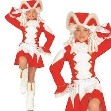 FUNKENMARIECHEN - rot/weiß- Gr. 128 Kinder Kostüm Tanzmariechen Garde Uniform