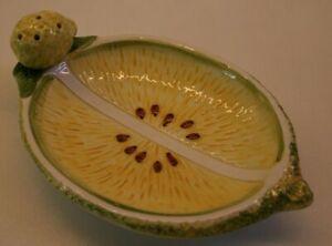 Marco Polo Lemon Fruit Soap Dish ceramic Bowl, very rare. no 6233.