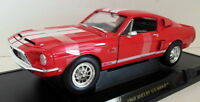Lucky Diecast 1/18 Scale 92168 1968 Shelby GT-500KR Red / White
