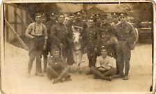 CURRAGH CAMP KILDARE IRELAND RP POSTCARD SOLDIERS DONKEY photo by GAVIN KILDARE
