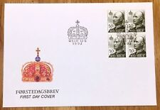 Norway Post FDC 1992.06.12. King Olav V - 50 kroner definitive - Block of Four