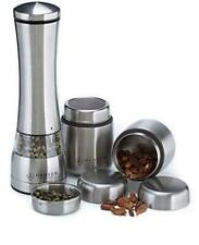 ELECTRIC PEPPER GRINDERTAINLESS STEEL SPICE CONTAINERS SET – ADJUSTABLE SPICE MI