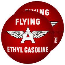 """Pair of Flying A Ethyl 13.5"""" Gas Pump Lenses (G128)"""