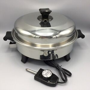 HEALTH CRAFT 12 inch Electric Skillet Liquid Oil Core Stainless Waterless K7273