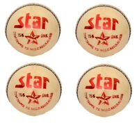 "4 X CW ""STAR WHITE"" HIGH Quality 4 Piece Cricket Ball -156 g + A Grade"