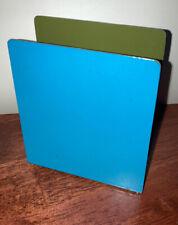 Vintage Modernist Blue Letter Holder