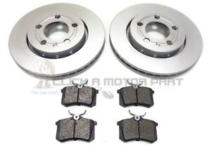 SEAT LEON 1.8 20V CUPRA R 2001-2005 REAR 2 VENTED BRAKE DISCS AND PADS SET NEW
