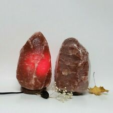 Red Himalayan Salt Lamp 6-7 in, Rare Dark Red Lamp, Natural Rock Salt