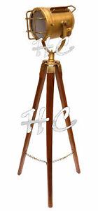 Industrial Style Vintage Spot Light Floor Standing Tripod Lamp Home Lighting
