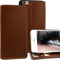 Exxcase Custodia IN Pelle Per Apple IPHONE 6 Plus Braun Cellulare Smartphone