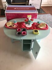 American Girl Doll Baking Table with Treats And Accessories- Retried with BOX