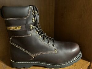 Catetpillar Brown Steel Toe Boots