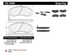 Disc Brake Pad Set-C-TEK Metallic Brake Pads Front Centric 102.15660