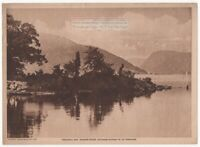 Peekskill Bay Husdon River Highlands Gateway Original 1917 Photogravure Print