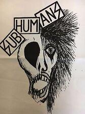 Subhumans Band Back Patch NEW Punk Rock Half Skull Half Human Worlds Apart Rats