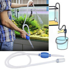 Water Vacum Cleaner Aquarium Manual Siphon Gravel Suction Pipe Pump Fish Tank