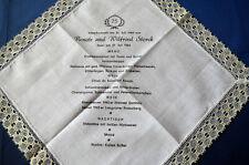 Taschentuch Storck zur Silberhochzeit 1984 für Speisekartensammler 25,5 x 25,5