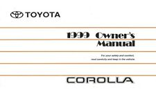 1999 Toyota Corolla Owners Manual User Guide Reference Operator Book Fuses