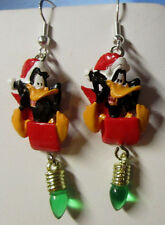 NORA WINN ~DAFFY DUCK ~ Earrings 925 Christmas LOONEY TUNES MOVIE CHARACTERS