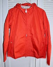 NWT Authentic TORY BURCH Tory Sport Nylon Hooded Jacket in Poppy Red Sz L $198