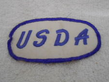 U S D A Used Embroidered Sew On Name Patch Tag