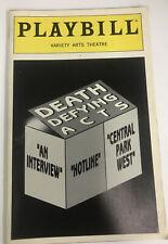 Playbill Death Defying Acts Linda Lavin Debra Monk